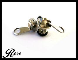 Fake Plugs Ohrstecker Reißverschluss Edelstahl 1 Paar (F004)