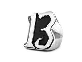 XL 13  Ring massiv /Edelstahl (R018)