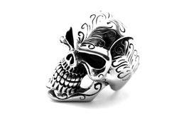 Edelstahl Ring Skull XXL  (R-051)
