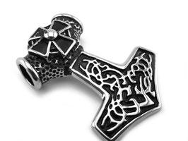 Edelstahl Anhänger Thorhammer Iron Cross (A093)