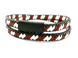 Wickelarmband  mit Design Magnet Verschluss   (A078)