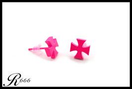 Edelstahl Iron Cross Pink (O-018)