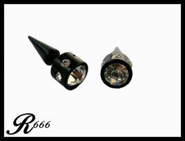 Fake Plugs mitStrass Stein Acryl 1 Paar = 2 Stück (F008)