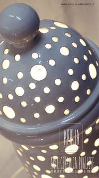 """Lampada da terra """"PIGNA"""" (interno o esterbo) in terracotta realizzata a mano, pottery handmade lamp design, #Puglia #artigiano"""
