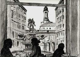 """Zeichnung """"Dresden Im Rauschenbach"""""""