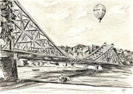 """Zeichnung """"Dresden Am Blauen Wunder"""""""