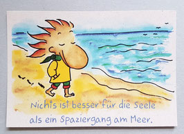 "Postkarte ""Spaziergang am Meer"""