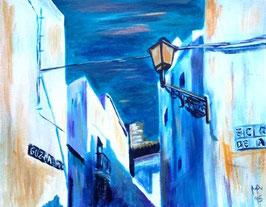 Weiße Häuser, blauer Himmel, in Vejer de la Frontera