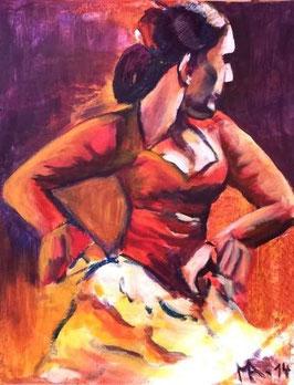 """Acrylbild """"Flamenco III"""""""