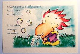 """Postkarte """"Seifenblasen"""""""