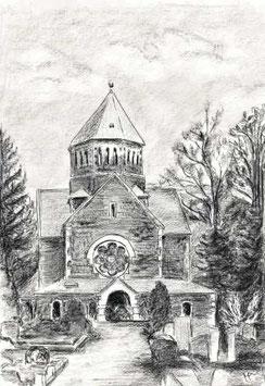 """Zeichnung """"Freital Kapelle Deuben"""""""