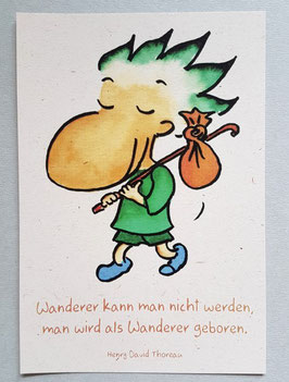 "Postkarte ""Wanderer"""