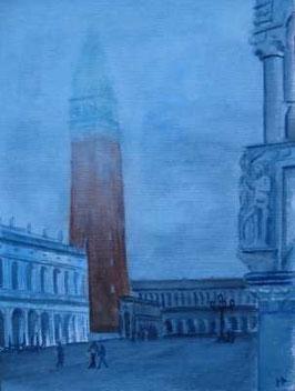 Piazza San Marco im Morgenebel