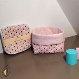 Lingettes bébé lavables - Palme Rose