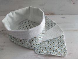 Lingettes bébé lavables - Palme Bleue
