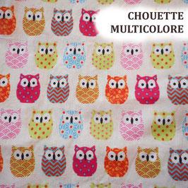 Lingettes bébé lavables - Chouette Multicolore