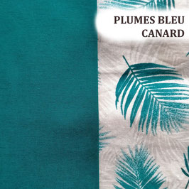 Disques à démaquiller lavables - Plume bleu canard
