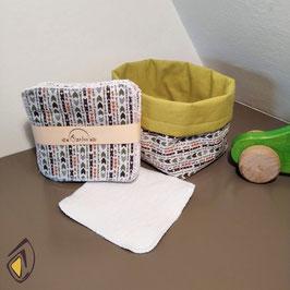 Lingettes bébé lavables - Motifs amérindien