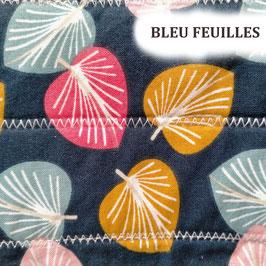 """Serviettes hygiéniques lavables """"Bleu feuilles"""""""