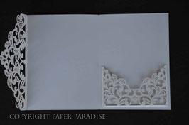 Laser Cut Trifold Pocket Lace Design Pack of 10
