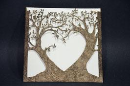 Laser Cut Pocket Love Tree Design Pack of 10