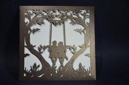 Laser Cut Pocket Romantic Swing Design Pack of 10