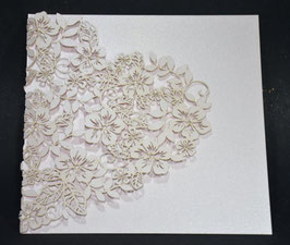Laser Cut Cover Floral Lace Heart Design Pack of 10