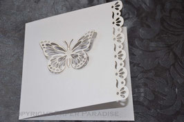 Laser Cut Butterfly Bookfold Pack of 10