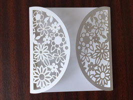 Laser Cut Cover FLORAL GATEFOLD Design Pack of 10