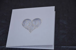 Laser Cut Swirly Heart Bookfold Pack of 10