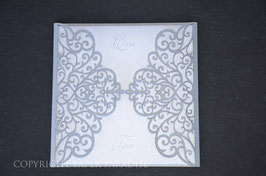 Laser Cut Cover Delicate Heart Swirls Design Pack of 10