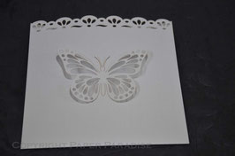 Laser Cut Butterfly Square Pocket Pack of 10