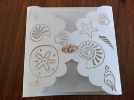 Laser Cut Cover BEACH SHELLS Design Pack of 10