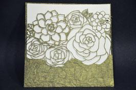Laser Cut Pocket Desert Rose Design Pack of 10