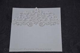 Laser Cut Fleur de Lis Square Pocket Pack of 10