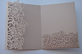 Laser Cut Threefold Cover A5 Floral Swirl Design Pack of 10