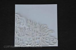 Laser Cut Pocket Floral Corner Design Pack of 10