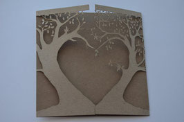 Laser Cut Cover Love Tree Design Pack of 10