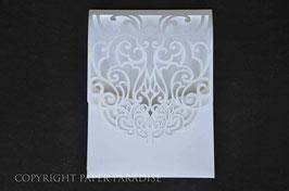 Laser Cut Foldover Pocket Swirl Design Pack of 10