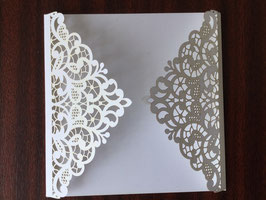 Laser Cut Cover LACE Design Pack of 10