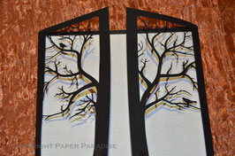 Laser Cut Skeleton Tree Gatefold Pack of 10