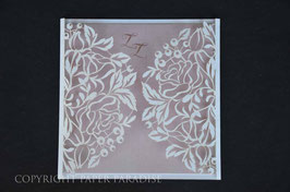 Laser Cut Cover Delicate Leaf Design Pack of 10
