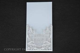 Laser Cut Pocket DL Rose Design Pack of 10