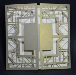 Laser Cut Cover Gatsby Art Deco Design Square Pack of 10