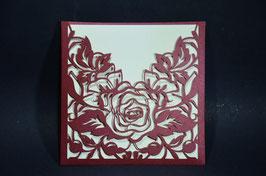 Laser Cut Pocket Rose Design Pack of 10