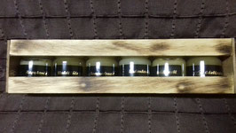 Das Honigjahr 2019, 6x 50gr Honig in handgefertigter Holzbox!