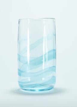 Glas, aquablau