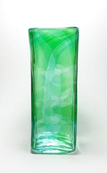 Vase, viereckig, beryllgrün