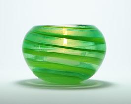 Teelicht, opaldunkelgrün