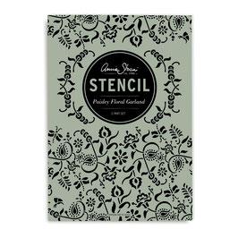 Annie Sloan Stencil  Paisley Floral Garland- Schablone 2x A2 Design